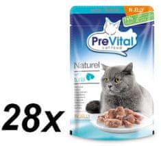 PreVital pokarm dla kotów NATUREL z tuńczyka w galarecie 28 x 85 g