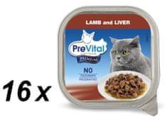 PreVital mokra karma dla kota Premium z jagnięciną i warzywami 16x 100 g