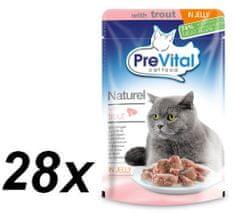 PreVital pokarm dla kotów NATUREL z kaczką w galarecie 28 x 85 g