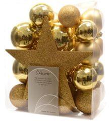 Kaemingk ozdoby 33 ks vrátane špičky zlatá