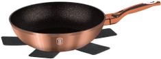 Berlingerhaus wok z granitową powierzchnią, 28 cm, Rosegold Metallic Line
