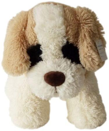 Mac Toys piesek z brązowymi uszami 30 cm