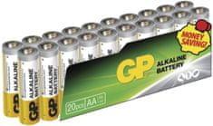 GP batéria (AA), alkalická, 20 ks, fólia
