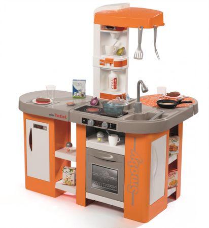 Smoby otroška kuhinja Tefal Studio XL Bubble, elektronska, oranžno-siva