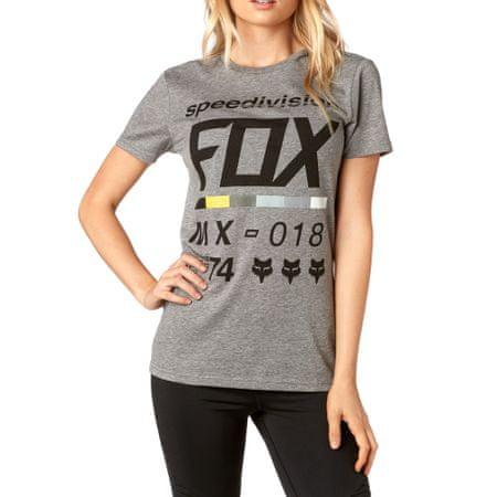 FOX női póló Draftr ss crew XS szürke
