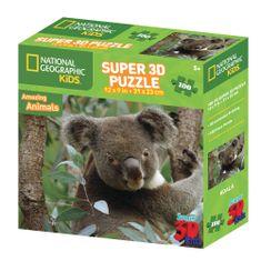 National Geographic sestavljanka 3D - Koala, 100 kosov, 31x23