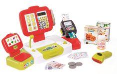 Smoby Pokladna elektronická s váhou červená