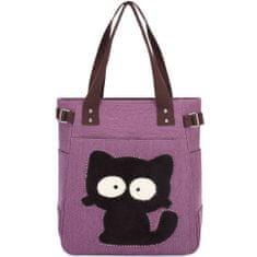 Kaukko torba Dizzy Cat, ljubičasta