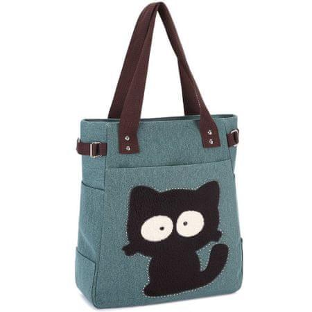 Kaukko torba Dizzy Cat, zelena