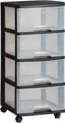 CURVER Komoda so zásuvkami, 4x 20 l