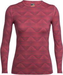 Icebreaker športna majica Wmns Oasis LS Crewe Diamond Line Wild, ženska , Rose/Harmony