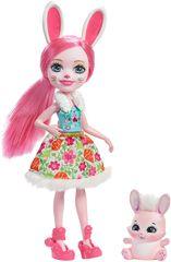 Mattel Enchantimals Lutko s hišnim ljubljenčkom Bree Bunny