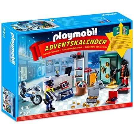 """Playmobil Kalendarz adwentowy """"Akcja policyjna w sklepie jubilerskim"""""""