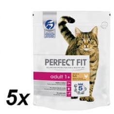 Perfect fit suha hrana za odrasle mačke Adult, s piščancem, 5 x 750 g