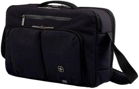 """Wenger CITYSTREAM - 15,6"""" könnyű notebook és tablet táska, fekete"""