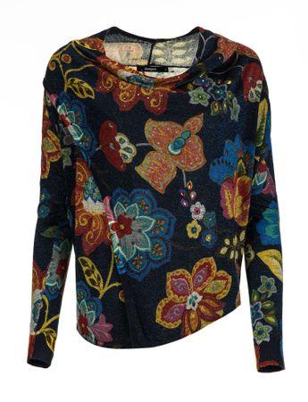 Desigual sweter damski Celia M ciemnoniebieski