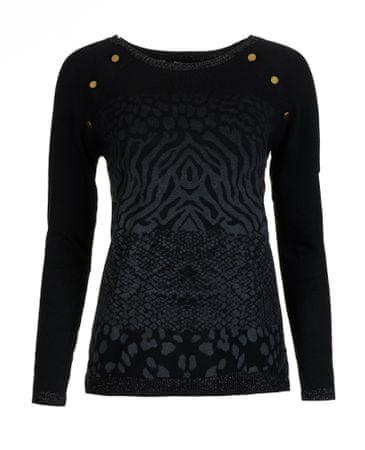 Desigual sweter damski Gaea S czarny