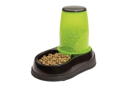 Maelson miska dla psa/kota z tacką Feedo czarna / zielona, 0,6 kg