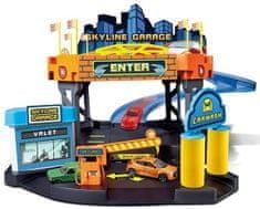 BBurago zestaw STREET FIRE Skyline, garaż + samochód (1:43)