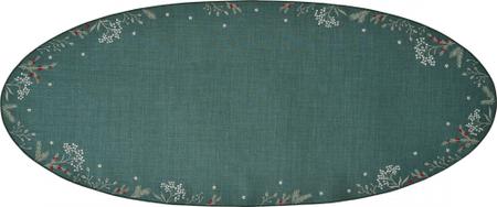 Sander dekoratív abrosz Winter Joy 28x58 cm, zöld