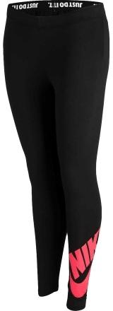 Nike legginsy sportowe G NSW LEG A SEE LGGNG LOGO Black/Red L
