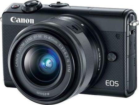 Canon fotoaparat EOS M100 EF-M 15-45 IS STM, črn