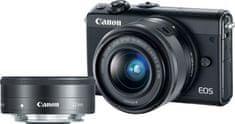 CANON EOS M100 + 15-45mm + 22 mm Digitális fényképezőgép