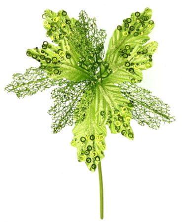 Seizis Kvet dekoračný svetlozelený s krúžkami, 27cm