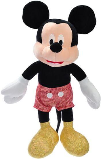Mikro hračky Mickey Mouse trblietavý plyšový 40cm