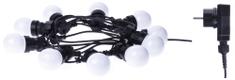 EMOS reťaz Party bulb 50 LED teplá biela