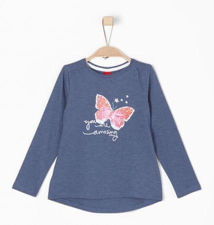 s.Oliver dívčí tričko 104/110 modrá