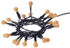 Emos svetlobna veriga, 20 LED diod, kroglice, 2×AA 1,5 m, rumena svetloba, časovnik