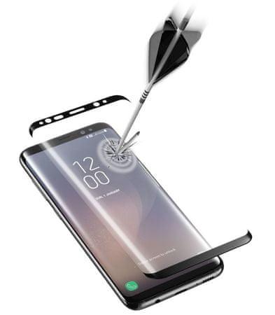 CellularLine zaštitno staklo Capsule za Samsung Galaxy S8, crno