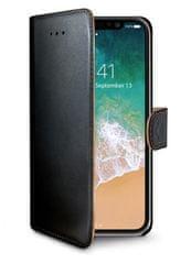 Celly Pouzdro typu kniha Wally pro Apple iPhone X, PU kůže, černé