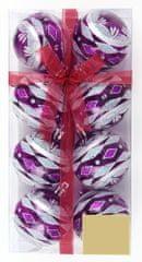 Seizis Guľa priehľadné 6cm fialové, 2 x 8ks