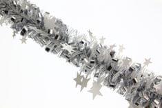 Seizis veriga z zvezdicami, srebrna, 2 m, 2 pakiranji