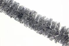 Seizis dekorativna veriga za božično drevo, srebrna, 18 vrstic, 2 m, 2 kosa