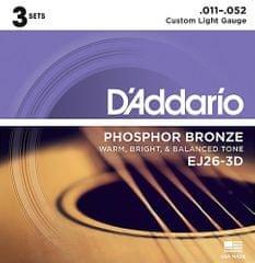 Daddario EJ26-3D Kovové struny na akustickú gitaru