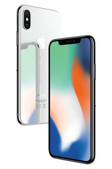 Apple iPhone X, 64GB, Stříbrný - použité