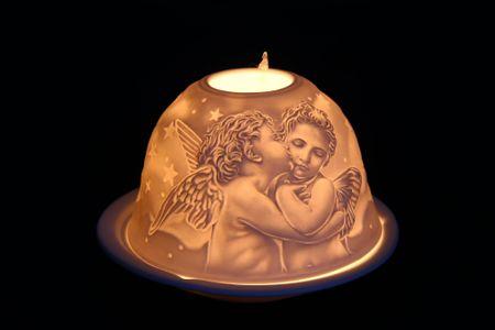 Seizis świąteczny świecznik, motyw aniołów