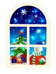 Seizis Dekorační okno s 16LED žárovkami, baterie, modré