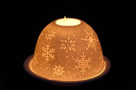 Seizis świąteczny świecznik, motyw płatków śniegu