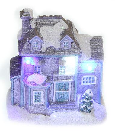 Seizis domek polystone z LED, szary