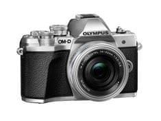 Olympus digitalni bezzrcalni fotoaparat OM-D E-M10 Mark III + ED 14-42 mm 3.5-5.6 EZ, srebrni
