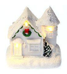 Seizis domek polystone z LED, biały
