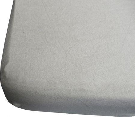 Jerry Fabrics prześcieradło z lycrą 180x200 szare