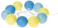 Emos LED dekoracija - bombažne kroglice poletje, 2×AA, topla bela