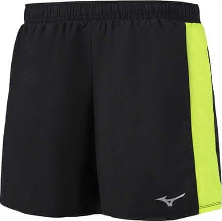 Mizuno ženske kratke hlače Core Square 5.5/Black Safety Yellow, črno rumene, L
