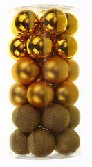 Seizis obesek glamuroznega čeveljca, zlat, 10 cm, 2 kom