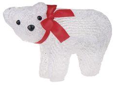 EMOS Vianočný medvedík 16 LED, denná biela